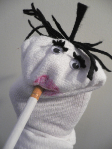 Ms. H users her smelly sock puppet Broach Hooper to abuse the grieving